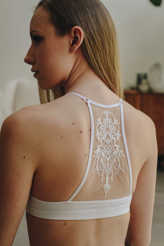 Inked Illusion Racerback Bralette - White (front2).png