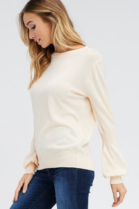 Peaches and Cream Long-Sleeve Sweater (side)