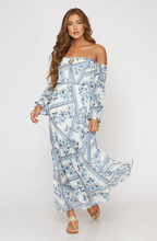 Off-Shoulder Maxi Dress blue-white (front view).png