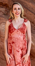 Red Rocks Tie Dye Maxi Dress - Rust (close up view)