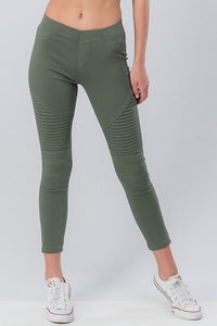 Running Around Like Crazy Skinny Pant - Olive (front1)