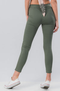 Running Around Like Crazy Skinny Pant - Olive (back)