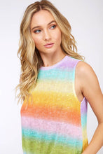 Rainbow Trails Sleeveless Top - close -up