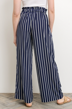 Meet Me For Brunch Jessica Pant - Navy and White Stripes (back view)