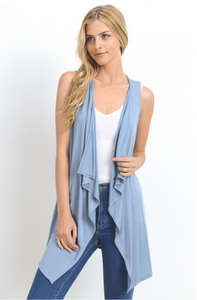 Go Anywhere, Do Anything Annabelle Vest - Dusty Blue (front view)