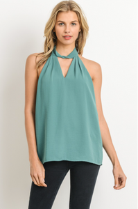 Allure of Spring Blouse - Teal - front view