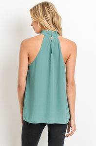 Allure of Spring Blouse - Teal - back view