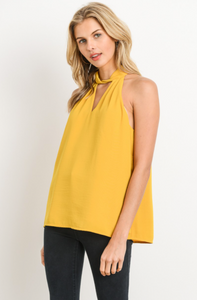 Allure of Spring Blouse - Mustard - front view