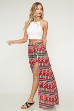 Exploring the World Maxi Skort - Red Tribal Print (front full1).png