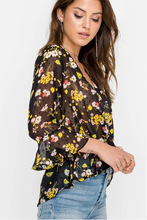 Easy Sheer Floral Top (black and yellow) side.png