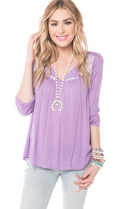 'Essential Lavender' Embroidered Top (front).png