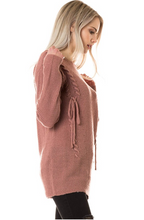 Laced-Up with Love Sweater - Mauve (side 2)
