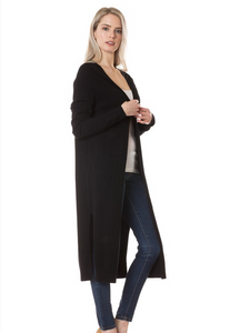 On Fleek Long Cardi- Black (side2)