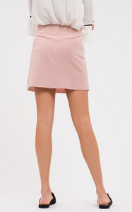 Morning Glory Embroidered Mini Skirt (light pink) solid back