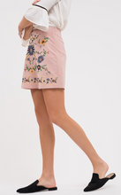 Morning Glory Embroidered Mini Skirt (light pink) side view