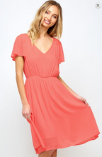 Go-with-the-Flow Gauze Dress (light coral) shows full skirt