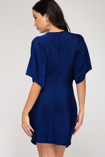 Just Before Midnight Royal Blue Shimmer Dress Back View
