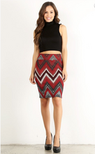 Slay the Day Pencil Skirt- Red/Black/Tan (full)