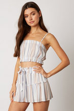 SunTime Two-Piece Shorts Set - cobalt striped (side)