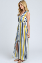 Summer Sky Sleeveless Maxi Dress – Blue, Ivory, Yellow (side).png