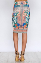 Summer Glory Pencil Skirt – Ivory, Multi (back).png