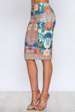 Summer Glory Pencil Skirt – Ivory, Multi (side).png