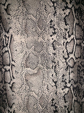 Cleo's Envy Suede Snake Print Pencil Skirt (stone grey) close up fabric