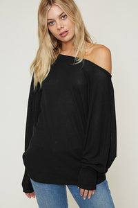 Comfy & Chill'n Knit Top - Black