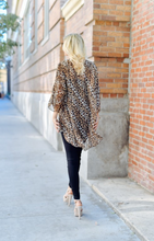 Wild At Heart Leopard Kimono - Brown (back)