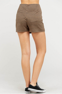 Wrap Skort - Brow/Charcoal (back)
