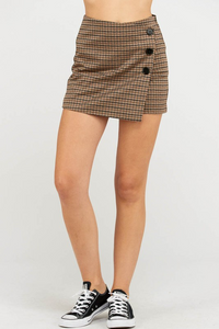 Wrap Skort - Brow/Charcoal (front1)