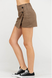 Wrap Skort - Brow/Charcoal (side)