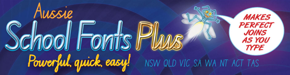 Aussie School Fonts Plus Unlimited download version (permanent link duration)