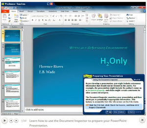 Professor Teaches Office 2010 & Windows 8