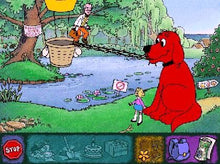 Preschool learning games with Clifford the Big Red Dog