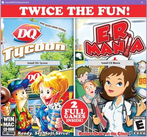 DQ Tycoon & ER Mania twin pack cd-rom version