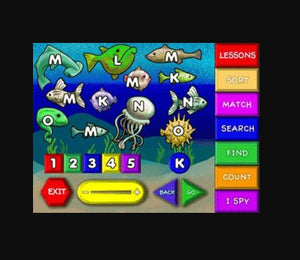 Preschoolers learn the alphabet in the fun learning game