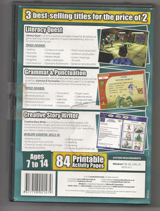 Eureka Lets Learn Literacy pre-owned rear of pack