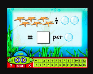 Maths app for children to learn multiplication and division