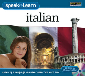 Learn Italian with language learning programs for Windows available on disc or digital download