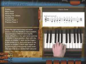 Easy Piano learn to play piano learning software