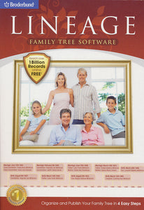 Lineage Family Tree Software by Broderbund