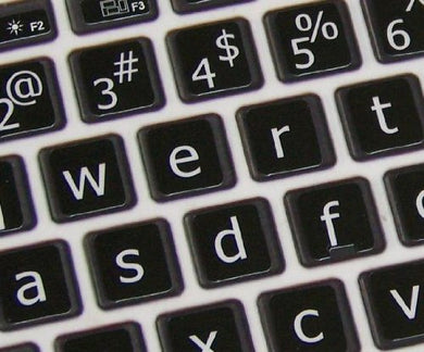 Lower case keyboard stickers for Mac
