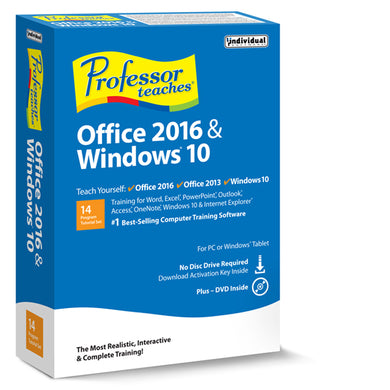 Professor Teaches Office 2016 & Windows 10 download version
