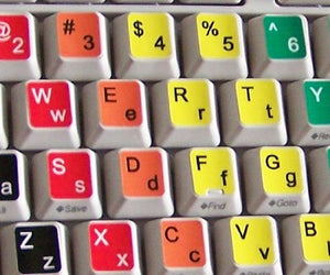 Lower and upper case keyboard stickers x10 FREE postage