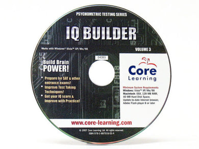 Core Learning Psychometric Testing Series : IQ Builder
