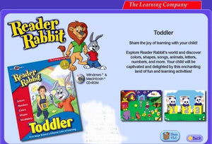 Toddlers & preschoolers learn to use a computer mouse with Reader Rabbit