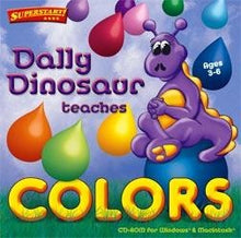 Dally Dinosaur educational game for toddlers and preschoolers to learn about colours