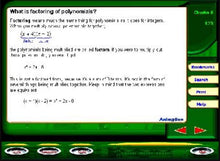 Learn about polynomials with this high school maths learning software for Windows
