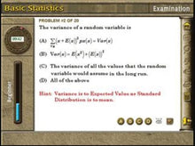 Learn about the variance of a random variable in this high school maths software
